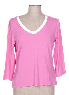 T-shirt manches longues rose DIANA GALLESI pour femme