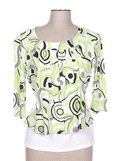 T-shirt manches longues vert FELLOW pour femme