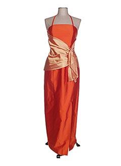 Robe longue orange CLAIRMODEL pour femme
