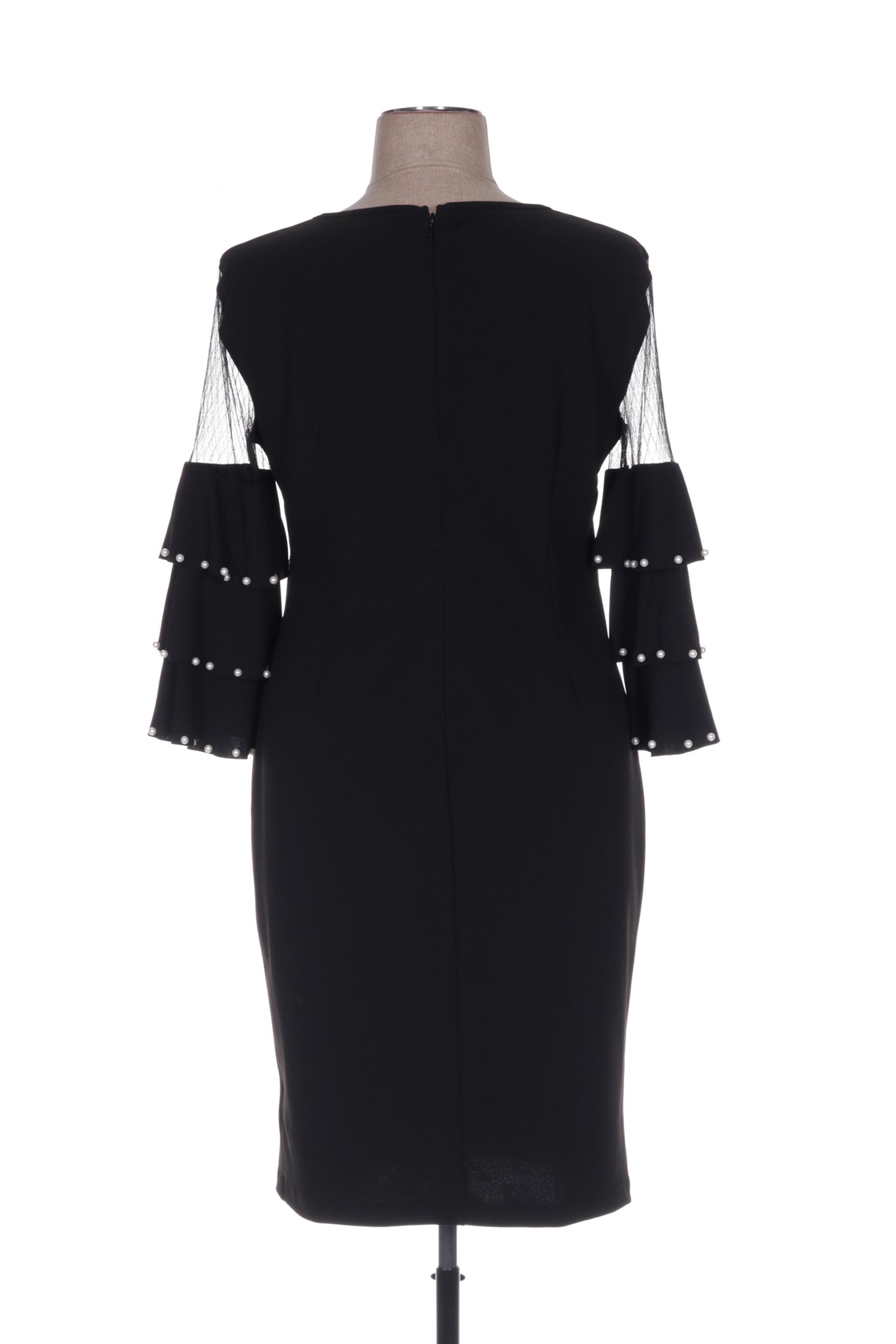 Frank Lyman Robes Mi Longues Femme De Couleur Noir En Soldes Pas Cher 1423432-noir00