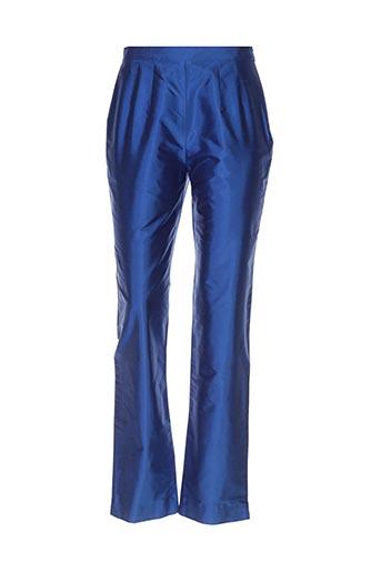 Pantalon chic bleu CLAIRMODEL pour femme