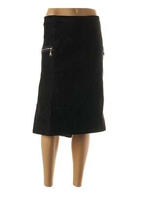 Jupe mi-longue noir ACBELLE pour femme