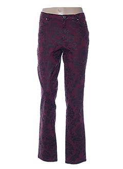 Pantalon casual rouge ETAM pour femme
