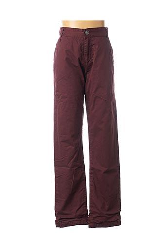 Pantalon casual rouge 3 POMMES pour fille