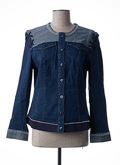 Veste en jean bleu FUEGO WOMAN pour femme