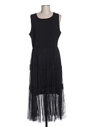 Robe mi-longue noir BLU ROYAL pour femme