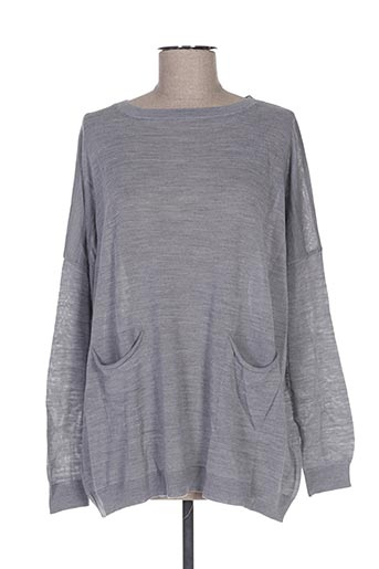 Pull col rond gris B.YU pour femme
