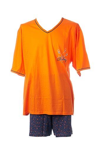 Pyjashort orange ROSE POMME pour homme