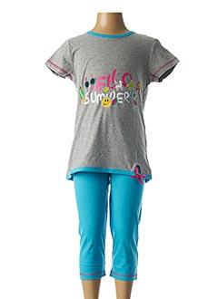 Pyjashort gris ROSE POMME pour fille