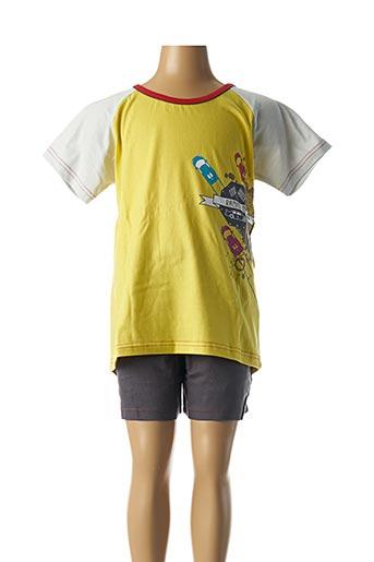 Pyjashort jaune ROSE POMME pour garçon