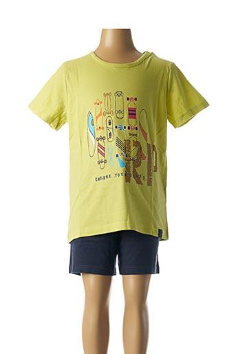 Pyjashort vert ROSE POMME pour garçon