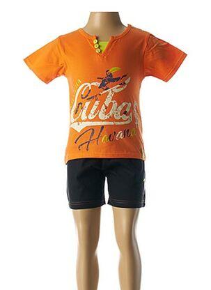 Pyjashort orange ROSE POMME pour garçon