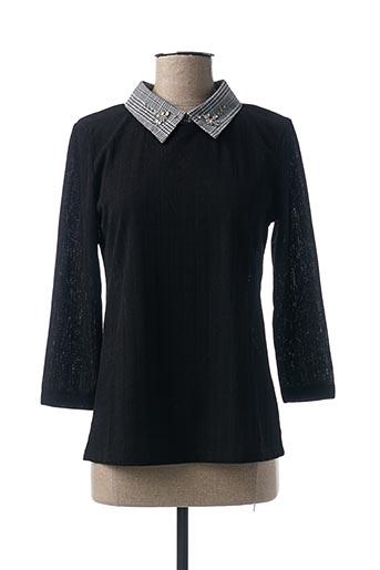 T-shirt manches longues noir JULIE GUERLANDE pour femme