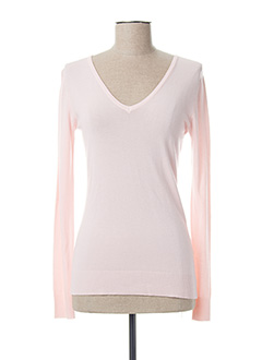 Pull col V rose EQUATION pour femme