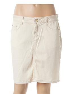 Jupe courte beige B.S JEANS pour femme