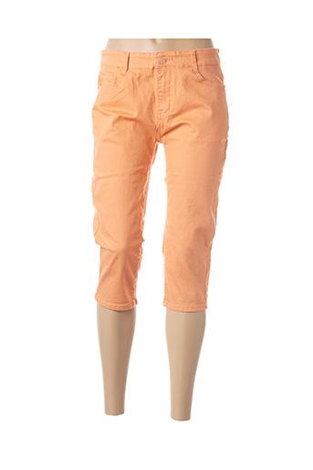 Corsaire orange B.S JEANS pour femme
