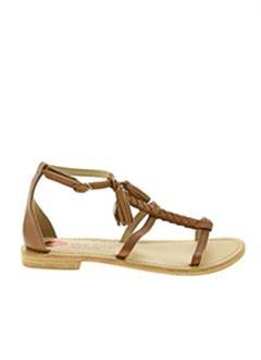 Sandales/Nu pieds marron BONS BAISERS DE PANAME pour femme