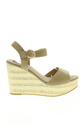 Sandales/Nu pieds beige CASSIS COTE D'AZUR pour femme
