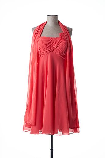 Robe mi-longue orange FASHION NEW YORK pour femme
