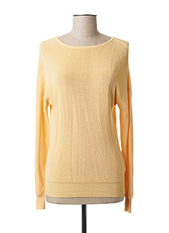 Pull col rond jaune YAYA pour femme