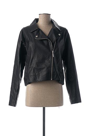 Veste simili cuir noir MIA SOANA pour femme