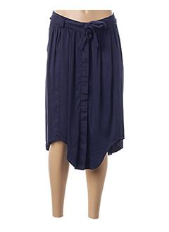 Jupe mi-longue bleu AKOZ pour femme