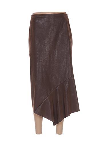 Jupe mi-longue marron CAROLE RICHARD pour femme