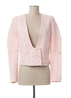 Veste chic / Blazer rose AFTER PANT'S pour femme