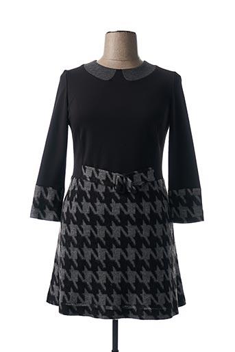 Robe mi-longue noir CHOKOLAT pour femme