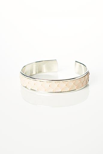 Bracelet Manchette rose OPALE pour femme