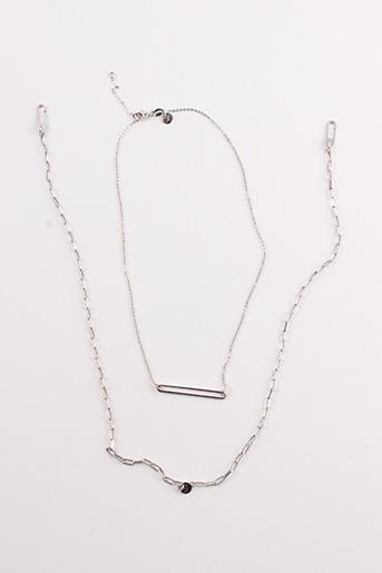 Collier gris CLEOR pour femme