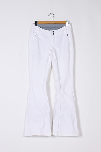 Pantalon casual blanc COLUMBIA pour femme