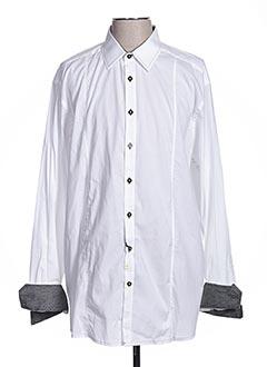 Chemise manches longues blanc CALAMAR pour homme