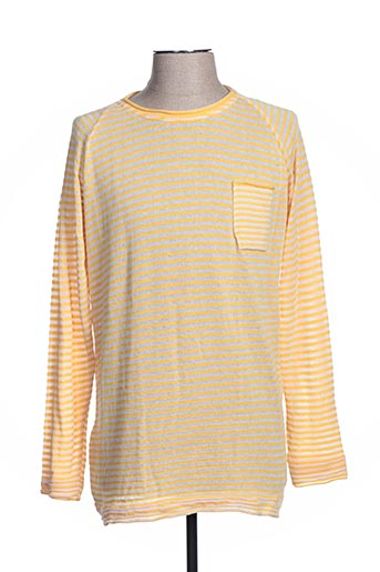 Pull col rond jaune BLY03 pour homme