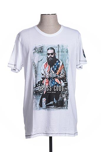 T-shirt manches courtes blanc GAUDI pour homme