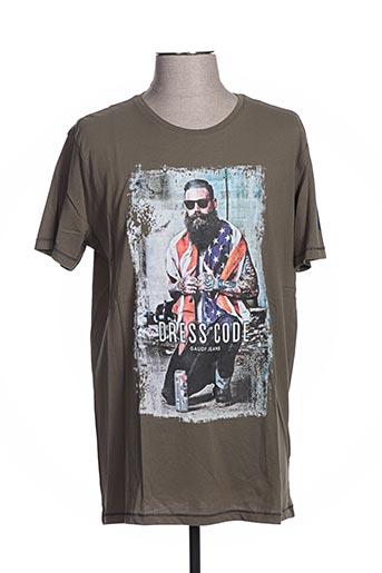 T-shirt manches courtes vert GAUDI pour homme