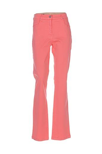 Pantalon casual orange PAUL BRIAL pour femme