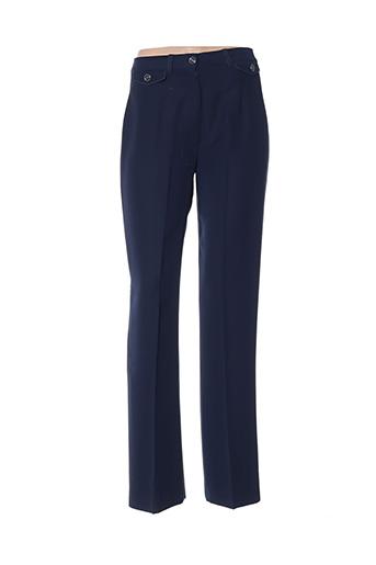 Pantalon chic bleu CHRISTINE LAURE pour femme