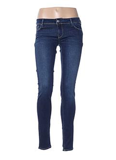 Jeans coupe slim bleu TEDDY SMITH pour femme
