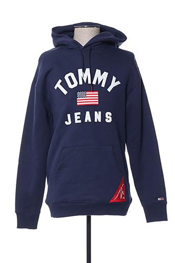 Sweat-shirt bleu TOMMY HILFIGER pour homme