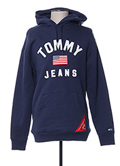Sweat-shirt bleu TOMMY HILFIGER pour homme seconde vue