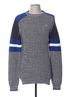 Pull col rond gris PETROL INDUSTRIES pour homme