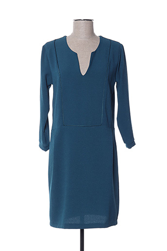 Robe courte bleu PAKO LITTO pour femme