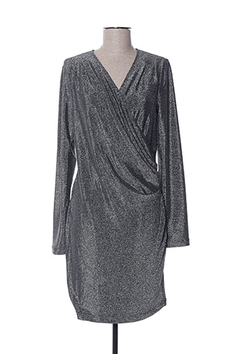 Robe pull gris MORGAN pour femme