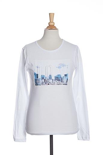 T-shirt manches longues blanc BECKARO pour fille