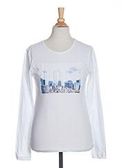 T-shirt manches longues blanc BECKARO pour fille seconde vue