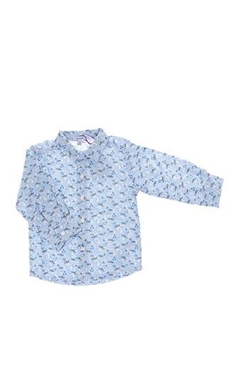 Chemise manches longues bleu ABSORBA pour garçon