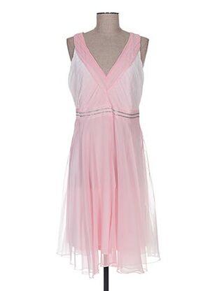 Robe mi-longue rose BODY FLIRT pour femme
