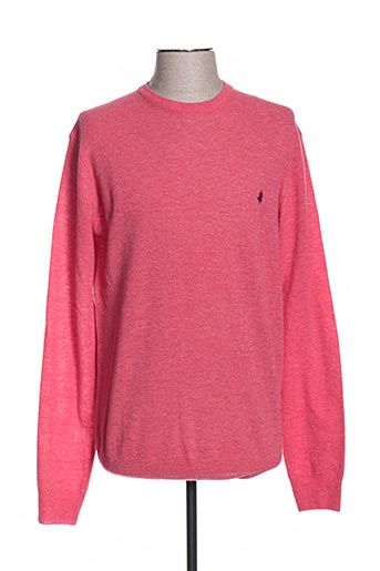 Pull col rond rose MCS pour homme