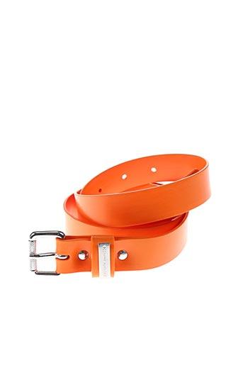 Ceinture orange FRANKIE MORELLO pour homme